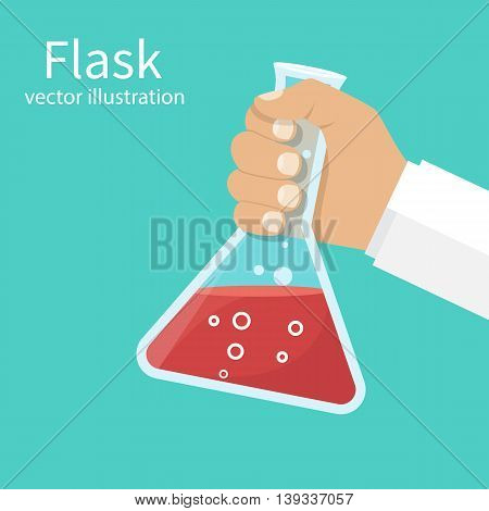 Doctor Holds Flask In Hands