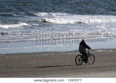 Beach Bicycle Rider