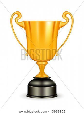 Trofeo de bronce, vector