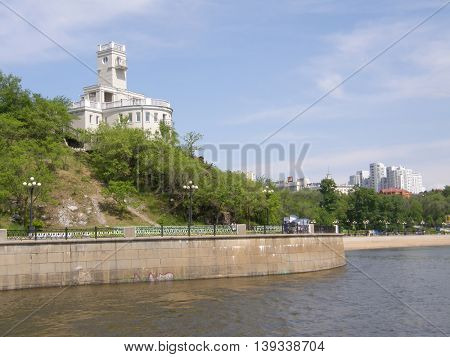 Amur cliff. Khabarovsk. Far East. Russia