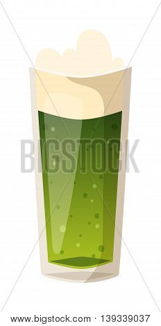 Beer glass isolated on white background. Beer cup