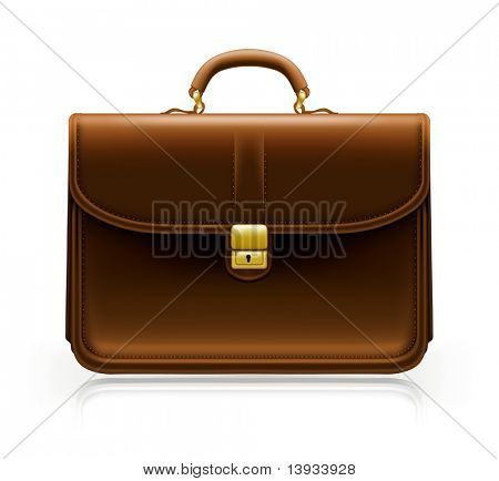 Brown Brief case, vector