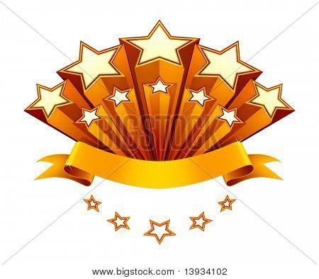 Stars emblem, vector