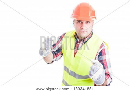Angry Constructor Being Ready To Punch Somebody