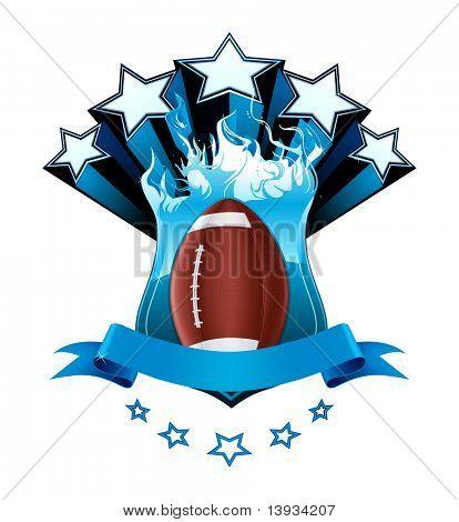 Emblema de futebol americano, vetor