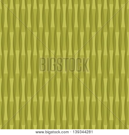 Bamboo Seamless Pattern. Green Plant Tester. Chinese  Herb Background