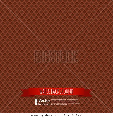 vector chocolate waffles background for your design