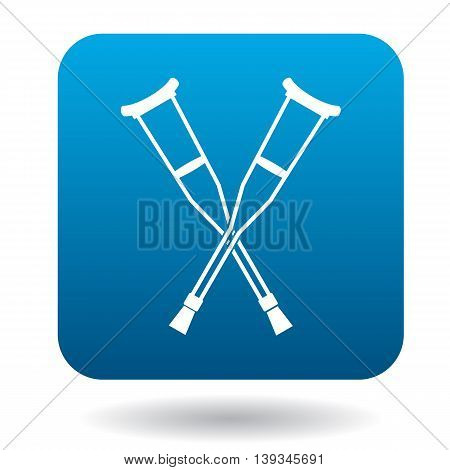 Crutches icon in simple style on a white background