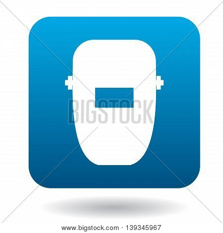 Welding mask icon in simple style on a white background