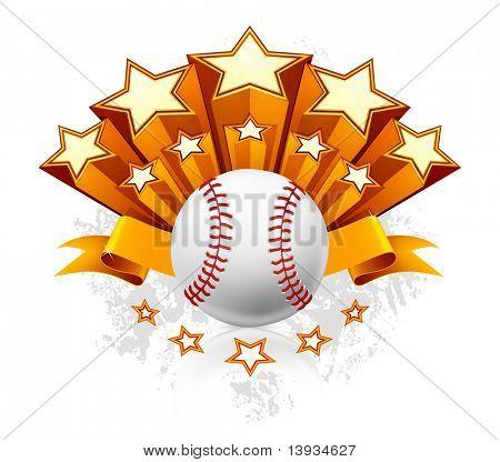 Emblema do beisebol, vetor