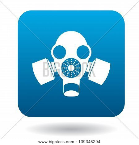 Gas mask icon in simple style on a white background