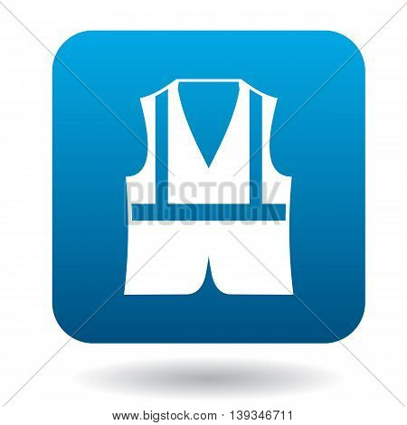 Safety vest icon in simple style on a white background