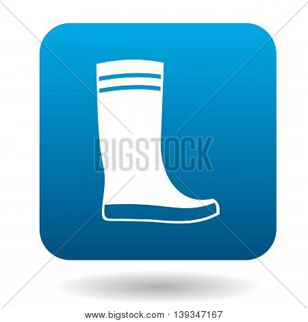 Boot icon in simple style on a white background