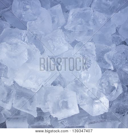 background with ice cubes in the big glass