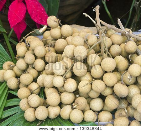 The longan in Thailand market on background