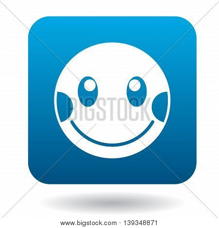 Confused emoticon icon in simple style on a white background