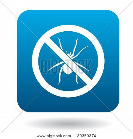 No spider sign icon in simple style on a white background