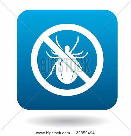 No bug sign icon in simple style on a white background