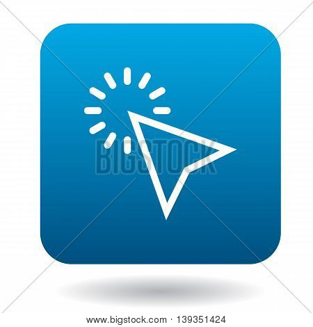 Pointer cursor icon in simple style on a white background
