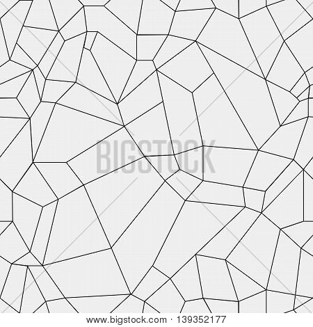 Geometric simple black and white minimalistic pattern, rectangles or stained-glass window. Can be used as wallpaper, background or texture.