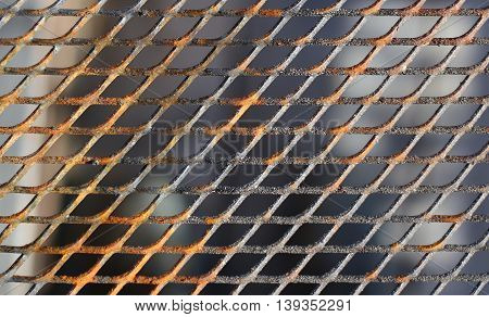 Close Up Of A Slightly Rusty Cooking Grate