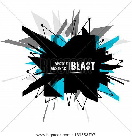 Vector illustration, abstract object, explosion substance matter
