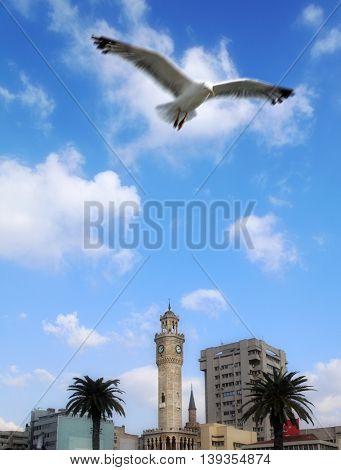 an image of clock tower in Izmir, Turkey
