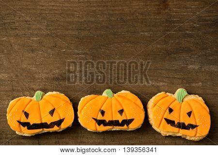 Homemade Jack O'lantern Pumpkin Cookies
