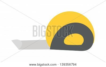 Ruler flat icon vector illustration, ruler icon. Construction icon symbol