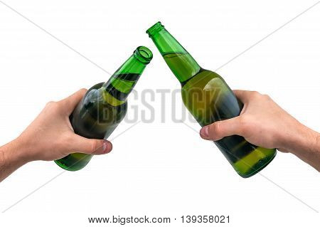 Man Holding A Bottle Of Beer