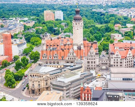 Leipzig Aerial View Hdr