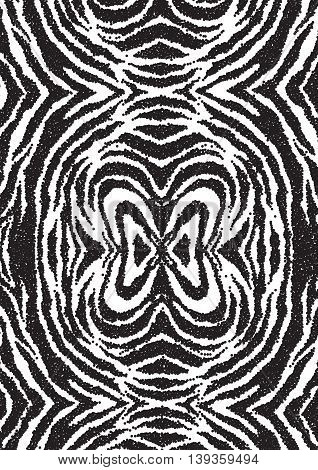 Halftone dots zebra texture. Animal background. Vector illustration. EPS 10