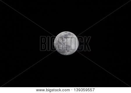 Closeup of full moon taken on 18 July 2016