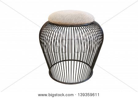 isolated chair on white background with clipping path