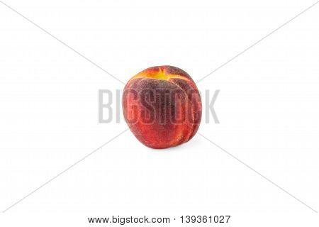 red peach isolted on white background ripe food sweet furit delicious eating healthy