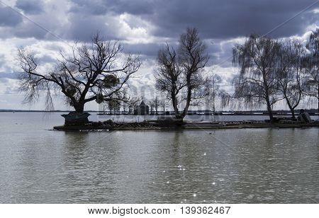 View to the Lake Balaton Hungary summer 2016
