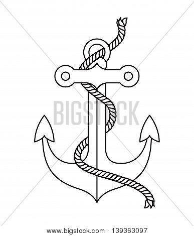 anchor tattoo isolated icon design, vector illustration  graphic