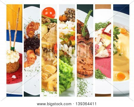 Delicious gourmet plate with texture and color