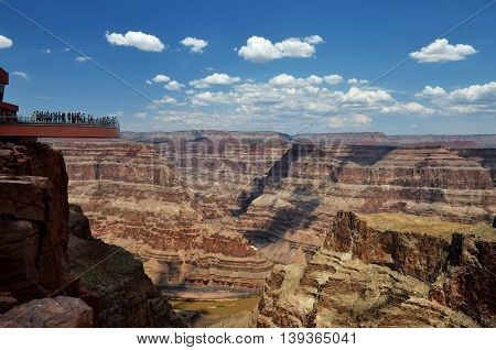 Grand Canyon view with Skywalk, Eagle point, Arizona, USA