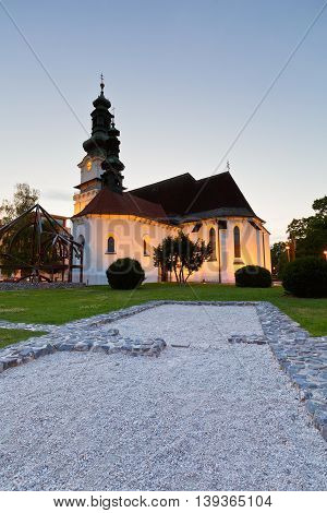 Church in the main square of Zvolen, Slovakia.