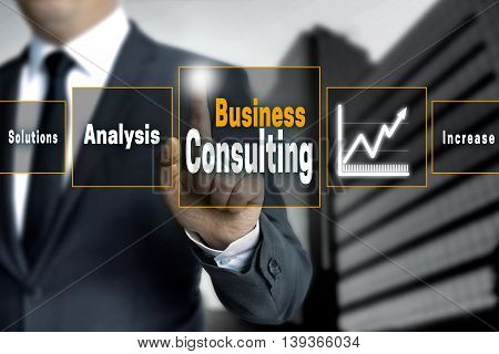 Business Consulting analysis  touchscreen concept background picture