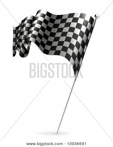 Waving flag checkered, 10eps