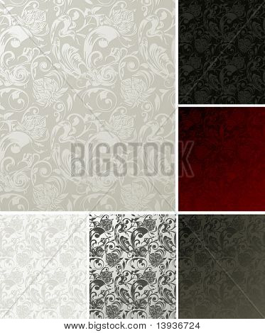 Pattern Seamless set of six colors