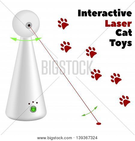 interactive laser toy for cats on a white background