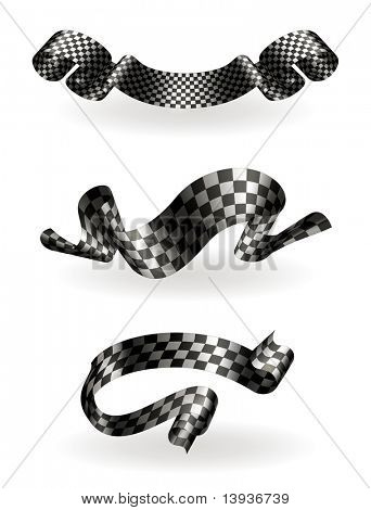 Checkered ribbons set, 10eps