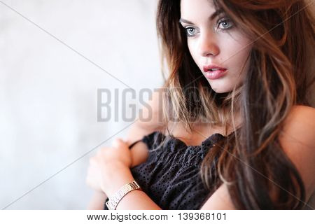 Gorgeous woman with beautiful face