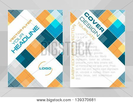 Flyer Design A4 Size Cover Brochure Template Or Corporate Banner.