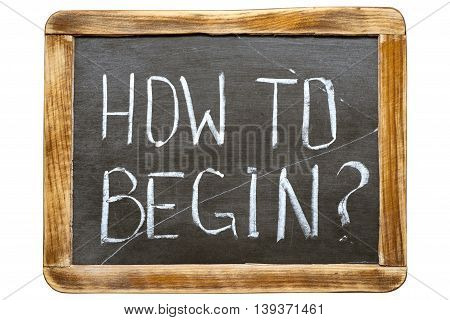 How To Begin Fr