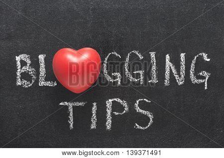 Blogging Tips Heart