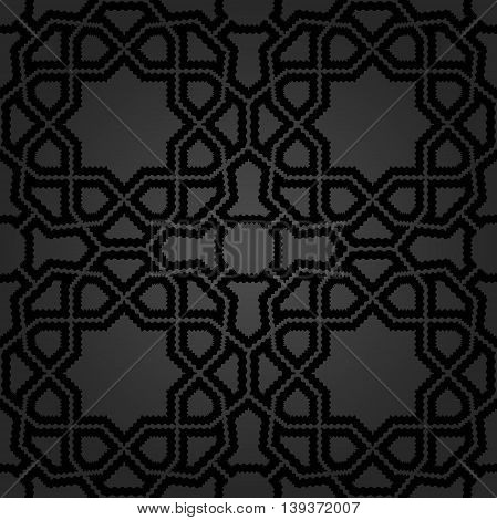 Seamless dark ornament in arabian style. Pattern for wallpapers and backgrounds